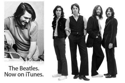 Steve Jobs, el quinto Beatle, da la bienvenida a iTunes a la banda de Liverpool