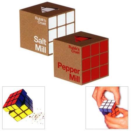 Salero y pimentero Rubik