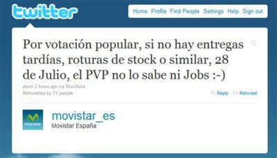 iPhone 4 saldrá a la venta con Movistar el 28 de julio. [Desmentido por Movistar]