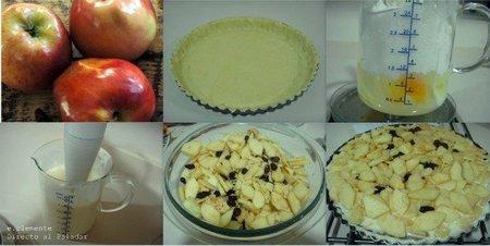 Pasos tarta manzana y queso