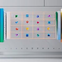 El equipo de diseño de Microsoft muestra su nuevo sistema de iconos junto a un menú inicio de Windows 10 que no existe