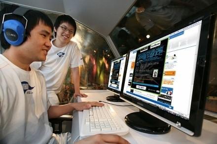 Monitores Samsung LCD en el WCG 2007
