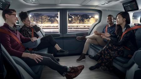 A train wagon? no, the interior of the new Cruise Origin