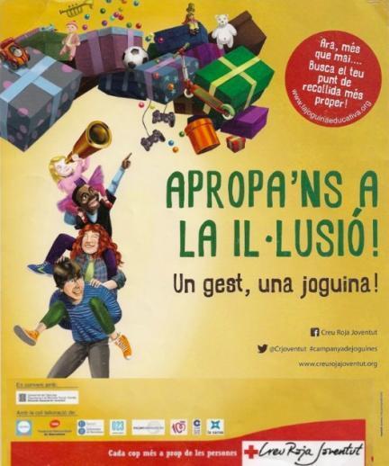 """""""Acércanos a la ilusión. Un gesto, un juguete"""", campaña solidaria de Creu Roja Catalunya"""