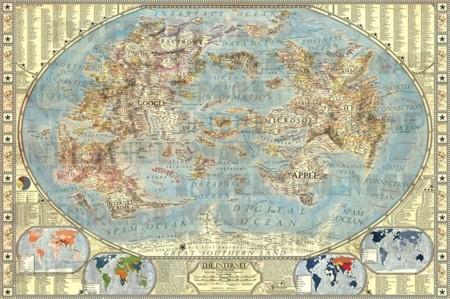 Así es el mapa mundial de Internet inspirado en National Geographic