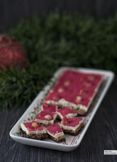 Turrón fucsia, receta de Navidad