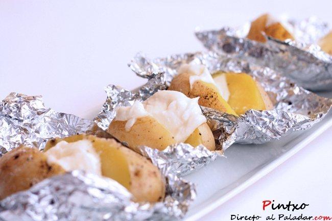 Patatas asadas en el horno. Receta