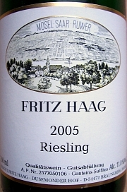 Fritz Haag Riesling 2005