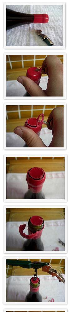 Cómo descorchar una botella sellada con lacre. Paso a Paso