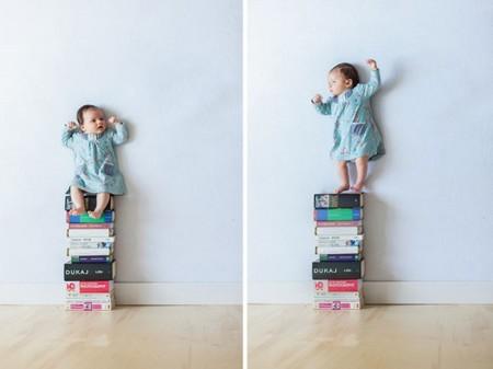 Geniales fotografías de un padre con su bebé y sin photoshop