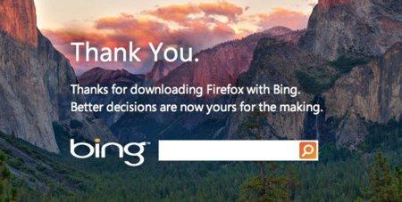 Mozilla lanza una versión de Firefox con Bing como buscador por defecto