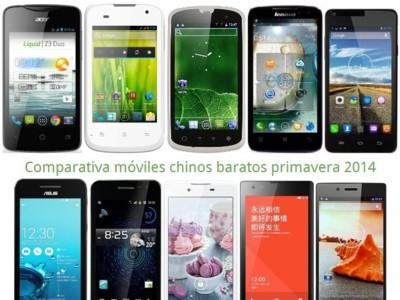 Móviles chinos baratos: comparativa