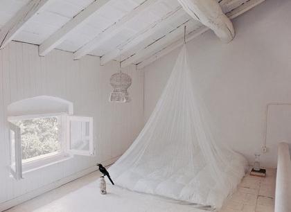 Una buena idea: Una mosquitera como dosel