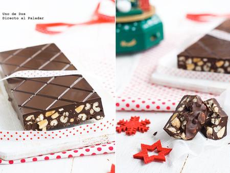 Cómo hacer turrón de chocolate crujiente. Receta