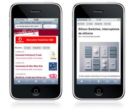 Compradicción (y todo WeblogsSL) en versión móvil