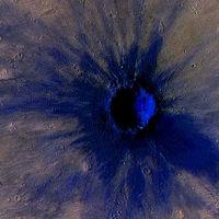 Este es el cráter que dejó un meteoro en la superficie de Marte