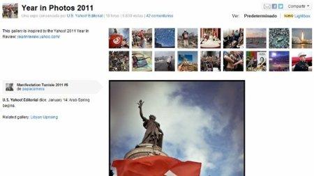 Yahoo y Flickr hacen sus resúmenes de fin de año