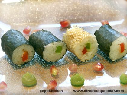 Receta de sushi maki de colores