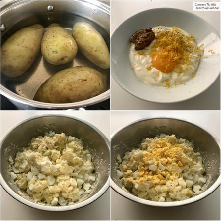 Paso A Paso Ensalada De Patata Con Mayonesa De Limon Y Mostaza