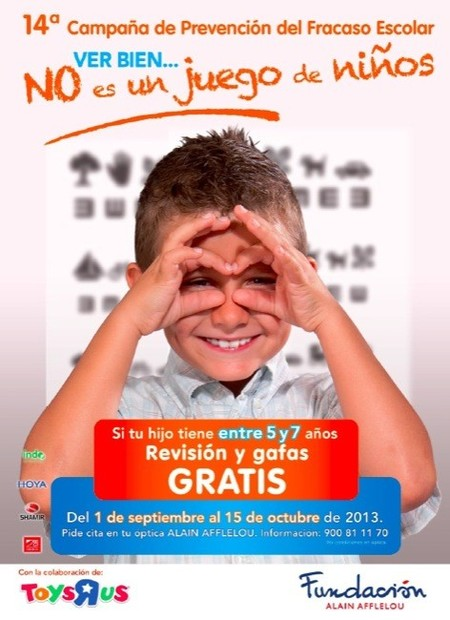 La Fundación Alain Afflelou y Toys'r'us se unen para prevenir los problemas de visión de los escolares