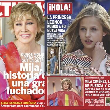 """La última hora sobre Mila Ximénez, la mudanza de Kiko Hernández """"por salud"""" y la despedida de la princesa Leonor: estas son las portadas de la semana del 23 de junio"""