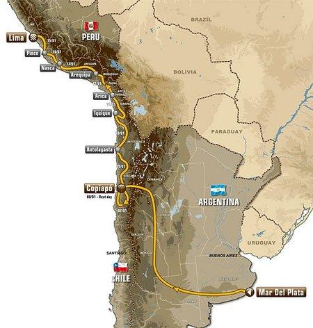El Dakar 2012 recorrerá Argentina, Chile y Perú