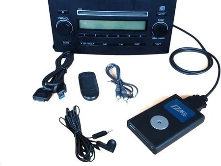 Falso cargador de CD que lee MP3 de USB y SD/SDHC/MMC
