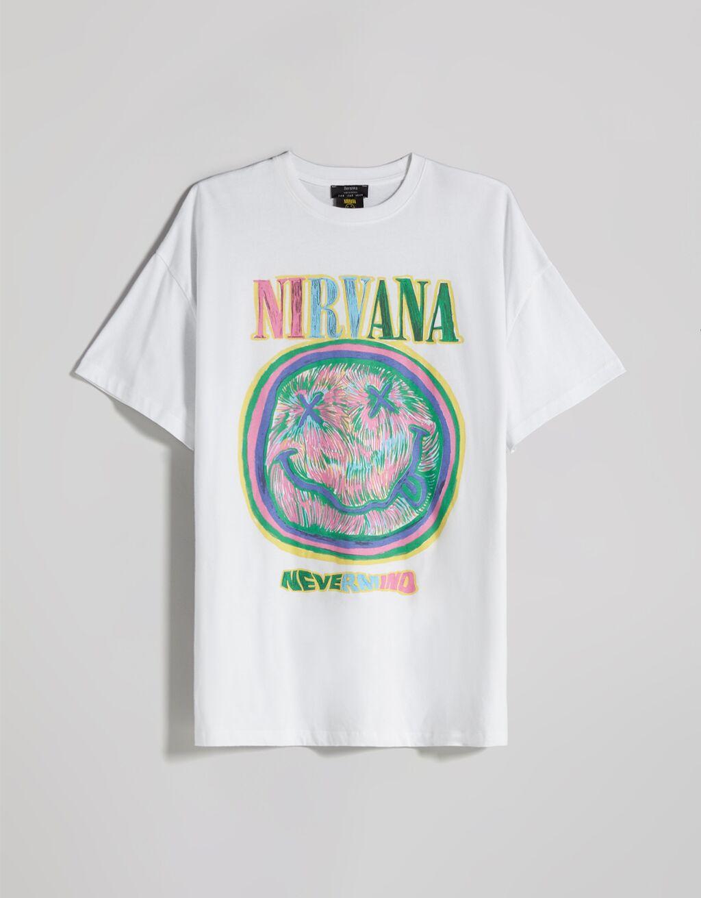 Camiseta manga corta print Nirvana