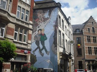 Los murales de cómics de Bruselas