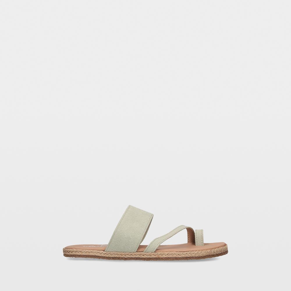 Sandalias planas verdes