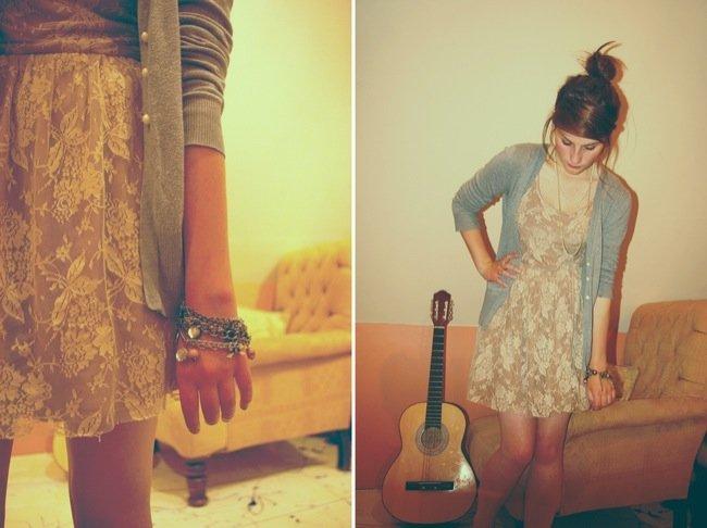 El encaje está de moda este verano 2010: cómpralo en Zara o Mango y aprende con los looks de calle VII
