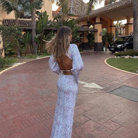 vestido con la espalda al aire de susana bicho
