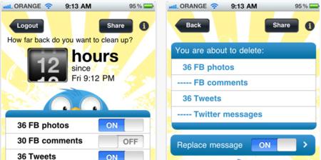 Borra todo lo que ha pasado en tu Facebook y Twitter en las últimas 48 horas