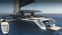 El trimarán más largo del mundo ha sido diseñado por Mercedes