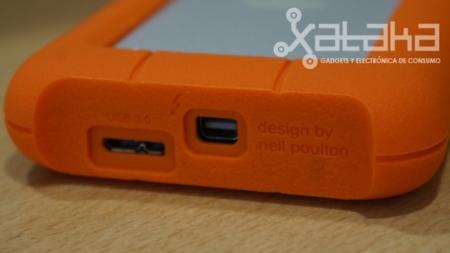 Lacie Rugged USB thunderbolt prueba conexiones