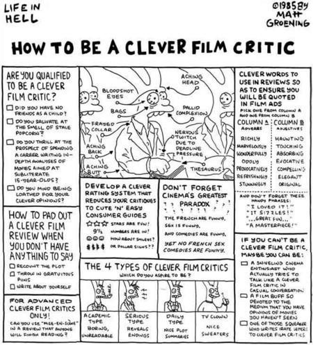 Los críticos de cine son necesarios