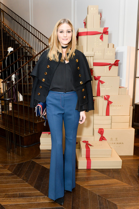 Olivia Palermo Attends The Celebration Of The Tale Of Thomas Burberry With Sienna Miller And Dominic West At Burberry Soho