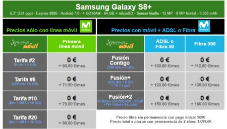 Precios Samsung Galaxy S8 Plus Con Pago A Plazos Movistar