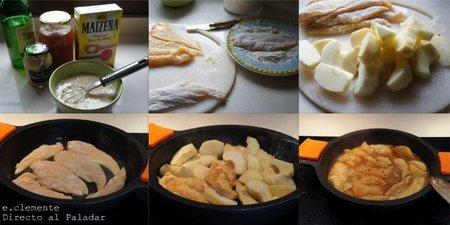 como hacer pollo con manzanas y sidra