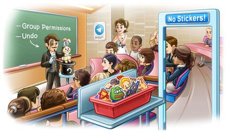 Telegram se actualiza y añade grupos de hasta 200.000 personas, permisos grupales y más
