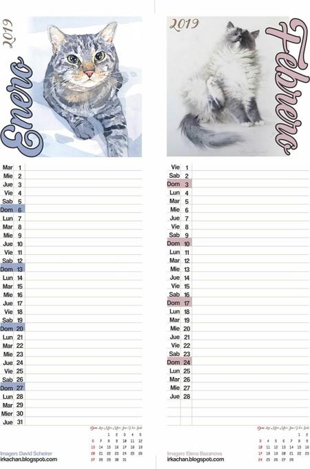 Calendario Vertical 2019