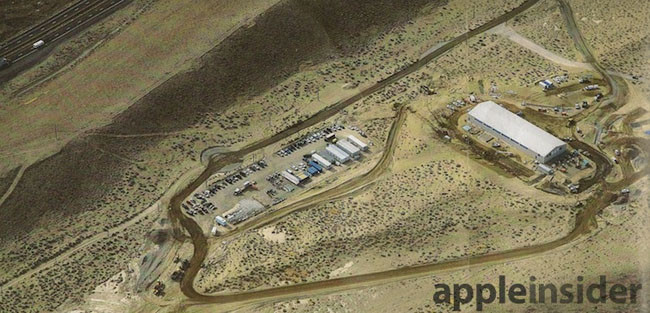 Fotografía aerea de las instalaciones en Reno