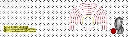"""Nuevo llamamiento en Internet para """"rodear"""" el Congreso el #23O"""