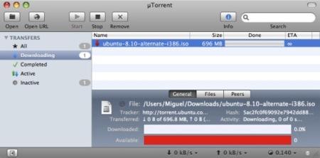 µTorrent para Mac: ya se puede probar oficialmente