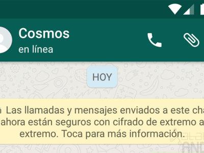 WhatsApp para Android activa el cifrado de extremo a extremo, ahora tus conversaciones son seguras