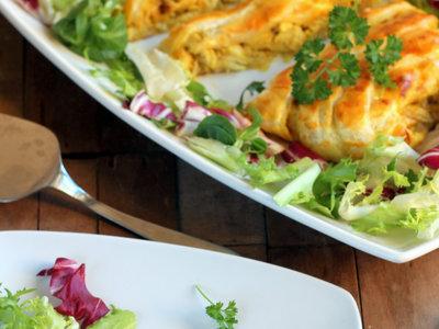 Trenza de pollo al curry, una receta para sorprender a tus invitados