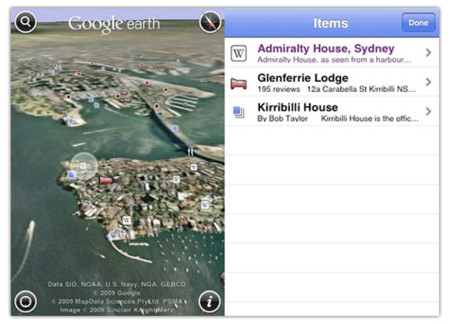 Google Earth para iPhone actualizada a la versión 2.0