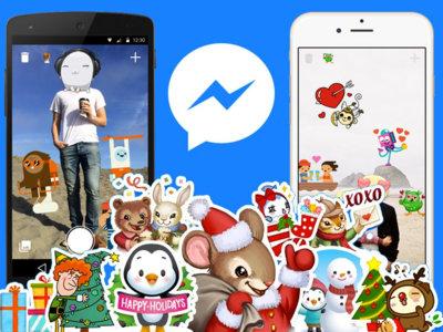 Llegan los stickers y Photo Magic en Facebook Messenger por Navidad, pero no para todos