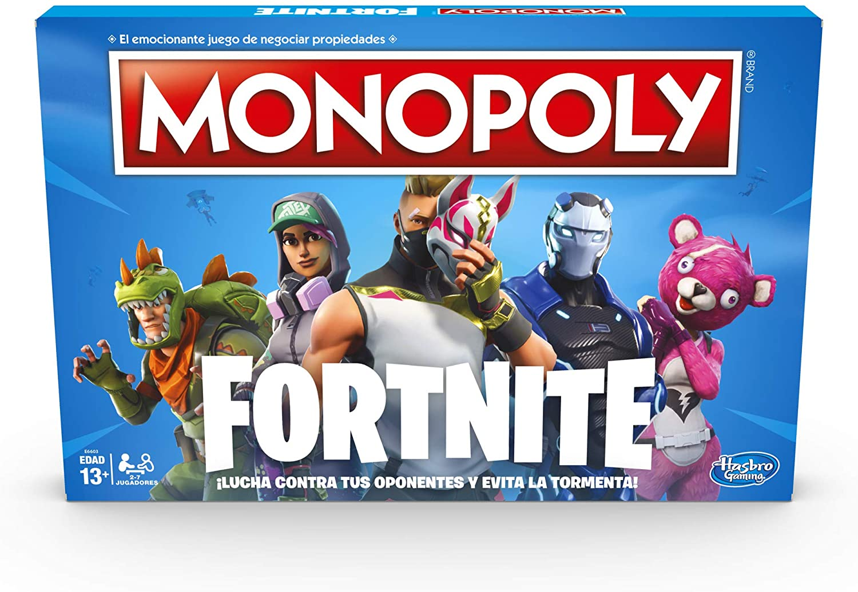 Hasbro Gaming Monopoly Edición Fortnite Game, empaque puede variar