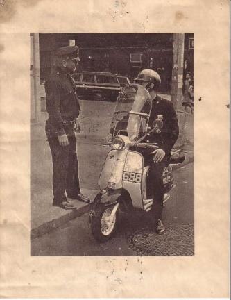 Lambretta de la policía de Nueva York